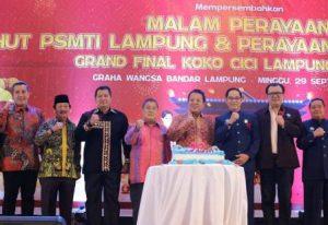 Hadiri HUT PSMTI Lampung, Arinal: Lakukan Pengembangan Potensi Seni Budaya