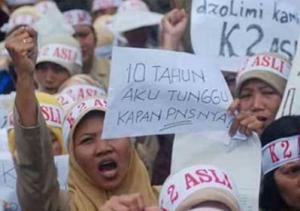 Perjuangkan Nasib, Puluhan Ribu Massa Gabungan Honorer K2 – Buruh Bakal Ngeluruk Istana dan DPR