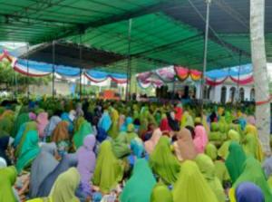 suasana pengajian muslimat di Kecamatan Seputih Banyak