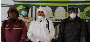 Parosil Pimpin Penyemprotan Disinfektan Di Lampung Barat