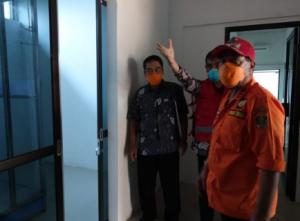 Bupati Lampung Tengah Loekman Tinjau Ruang Isolasi Untuk Pasien Covid-19