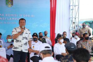 Menteri Edhy Prabowo Menilai Potensi Sektor Perikanan Lampung Luar Biasa