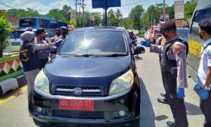 Operasi Yustisi, Polres Tanggamus Razia di Jalinbar dan Semprot Pasar Kota Agung