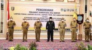 Gubernur Lampung Lantik 5 Pjs Bupati Dan 1 Plt Bupati. Ini Nama – Nama nya!