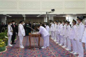 Alhamdulillah, 7 dari 8 Kada di Lampung dilantik Gubernur