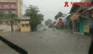 Banjir! Beginilah Kondisi Sejumlah Ruas Jalan di Bandarlampung saat Hujan