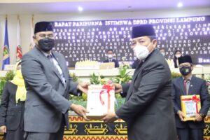 Mantap! Lewat Rapat Paripurna Istimewa DPRD, Pemprov Lampung Raih Opini WTP dari BPK 7 Kali Berturut-Turut