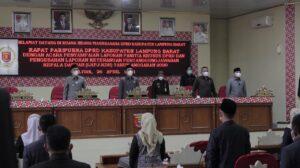DPRD Lampung Barat Gelar Rapat Paripurna LKPJ Kepala Daerah 2021