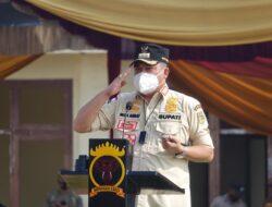 Sosialiasi Mako Kompi 1  Batalion B Pelopor di Anak Tuha, Musa Ahmad Jadi Inspektur Upacara