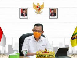 Pemprov Lampung ikuti  Rapat Koordinasi Evaluasi PPKM
