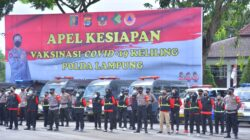 Siagakan Pasukan Vaksin Keliling, Kapolda Lampung Pimpin Apel di Saburai
