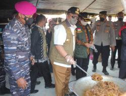 Gubernur Lampung Resmikan Posko Serbaguna Brigif 4 Mar/BS Peduli Covid-19