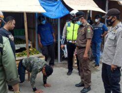 Kurangi Mobilitas Warga, Tim Gabungan Gelar Operasi Yustisi di Pasar Gisting dan Talang Padang