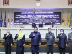 Ketua DPRD – Gubernur Lampung Teken LKPJ Pemprov Lampung 2020