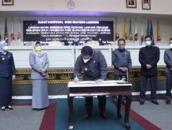 Rapat Paripurna DPRD Lampung, Gubernur Lampung Teken MoU Terkait KUPA PPAS Perubahan Provinsi Lampung 2021