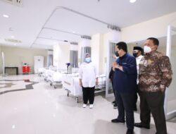 Dampingi Menteri  BUMN dan Menteri Agama, Gubernur Lampung Tinjau Kesiapan RS Pertamina Bintang Amin Ekstensi Asrama Haji Lampung