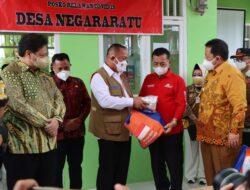 Dampingi Menko Perekonomian dan Kepala BNPB, Gubernur Lampung  Tinjau PPKM di Lampung Selatan