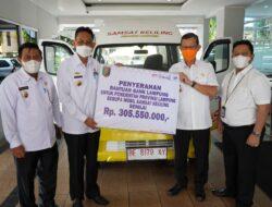 """Bank Lampung """"Bantu"""" Pemprov Lampung 1 Mobil Samling"""