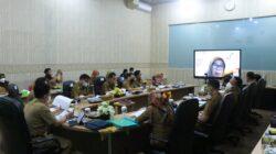 Inspektur Pemprov Lampung Rapat Evaluasi SAKIP & RB 2021 Secara Virtual