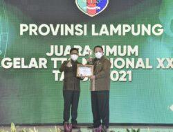 Gubernur Lampung Terima Penghargaan pada Gelar Teknologi Tepat Guna Nasional XXII