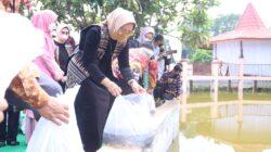 Ketua Dekranasda Provinsi Lampung, Launching Kain Tenun  Sulam Jelujur