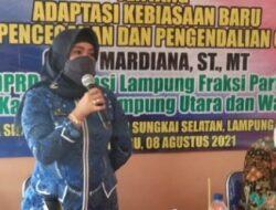 Sosialisasikan AKB, Mardiana Gelar Sosper di Sidodadi, Sungkai Selatan